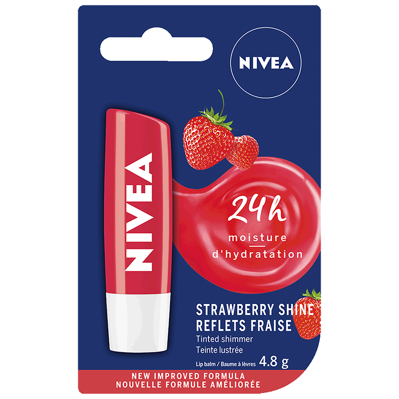 Nivea Fruit Shine Strawberry Lip Care - 4.8g