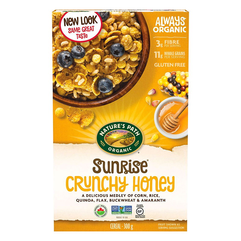 Gluten Free Cereal >> Nature S Path Sunrise Gluten Free Cereal Crunchy Honey 300g