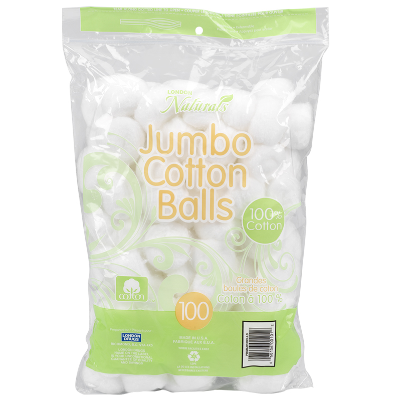 London Naturals Jumbo Cotton Balls - 100's