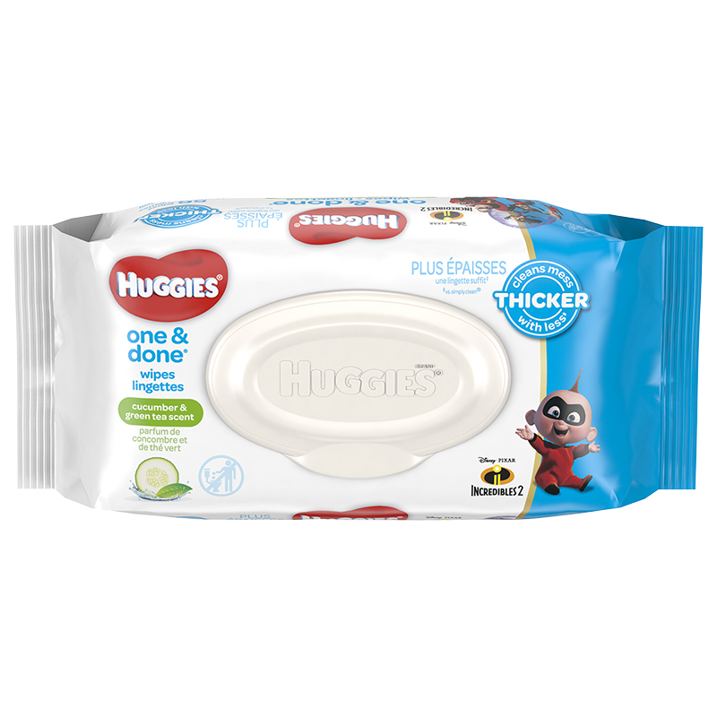 Huggies One & Done Refreshing Baby Wipes - 56 Pack