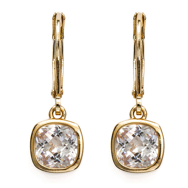 Anne Klein Pendant Leverback Drop Earrings - Gold