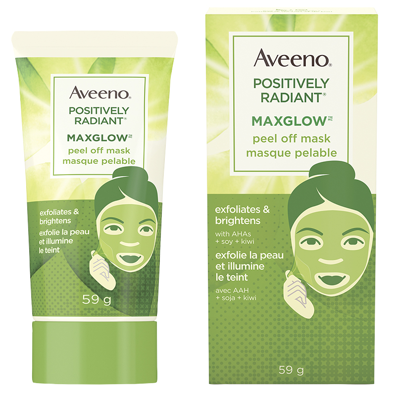 Aveeno Positively Radiant Maxglow Peel Off Mask - 59ml