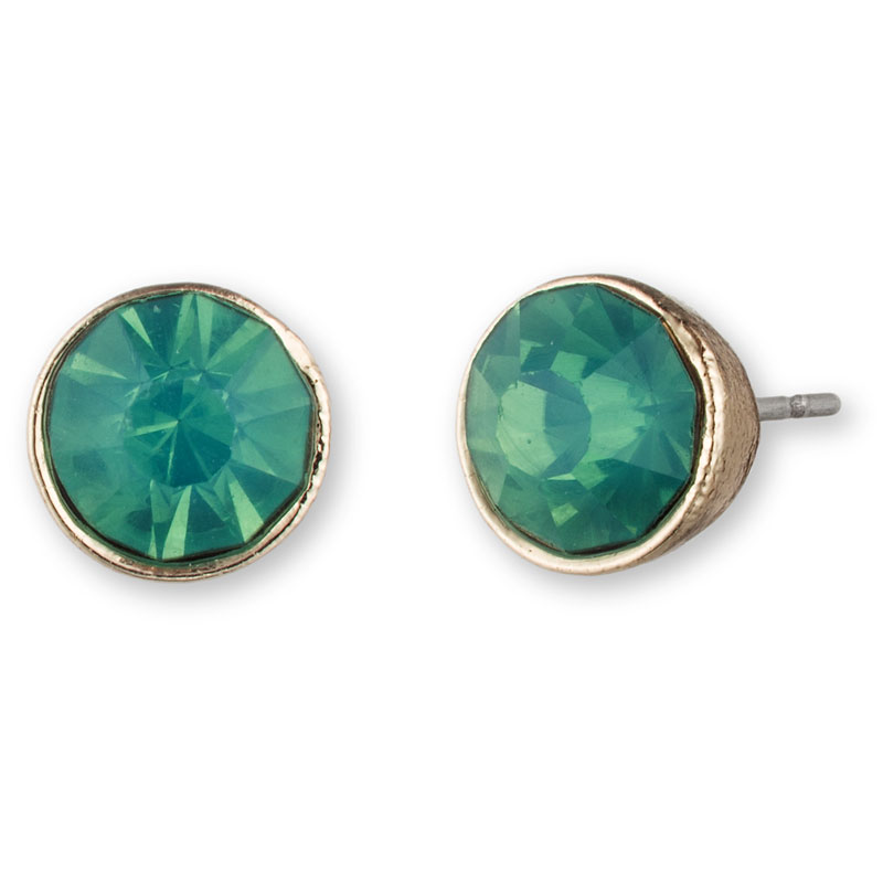 Lonna & Lilly Pendant Button Stud Earrings - Green/Grass
