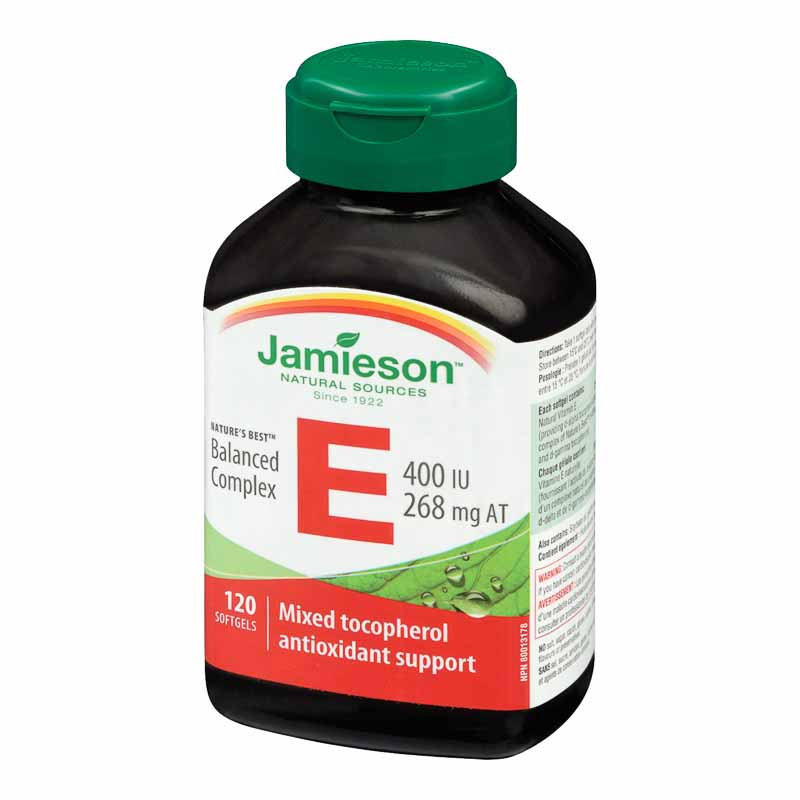 Jamieson Balanced Vitamin E Complex 400 IU/268 mg AT - 120's