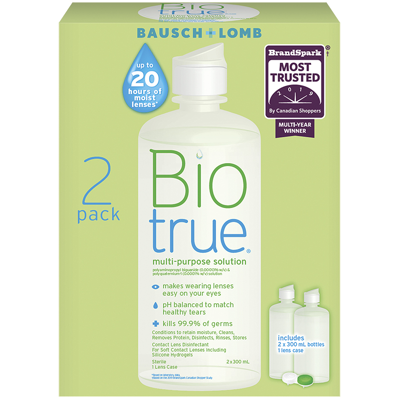 Bausch & Lomb Biotrue Multi-Purpose Solution - 2 x 300ml