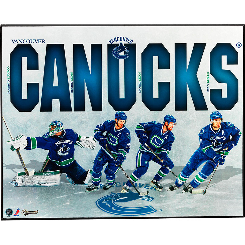 NHL Canucks Team Plaque - 8 x 10""