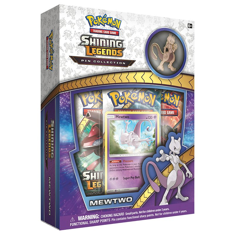 Pokemon Shining Ledgends Pin Collection - Mewtwo