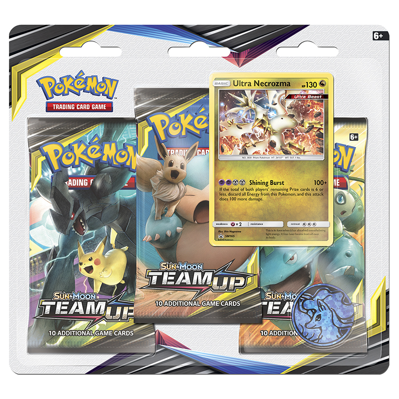 POK Sun & Moon 9 Team Up 3-pack Blister Pack - Assorted