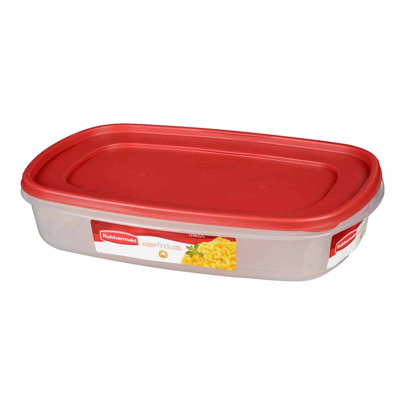 Rubbermaid Easy Find Lid Rectangle Food Storage Container Chili