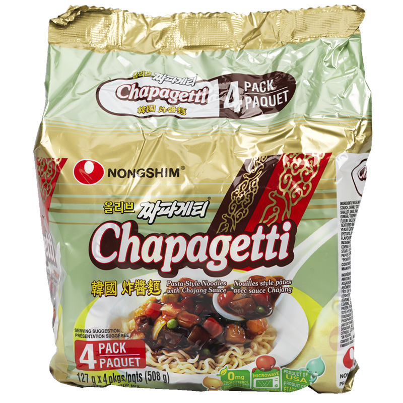 Nongshim Chapagetti Noodle Pasta with Chajang Sauce - 127g