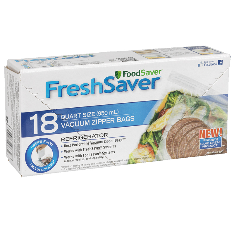 FoodSaver FreshSaver Quart Fridge Zipper Bags - 18's