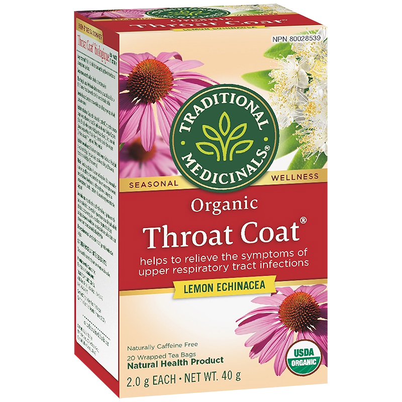 Traditional Medicinals Organic Throat Coat - Lemon Echinacea - 20's