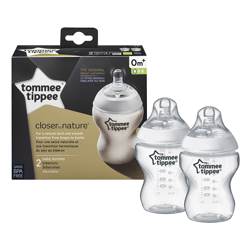 Tommee Tippee Closer to Nature Baby Bottle - 260ml - 2 pack