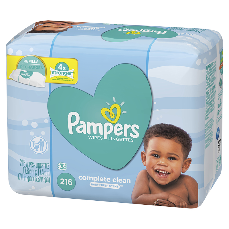 Pampers Wipes Complete Clean - Baby Fresh - 216's