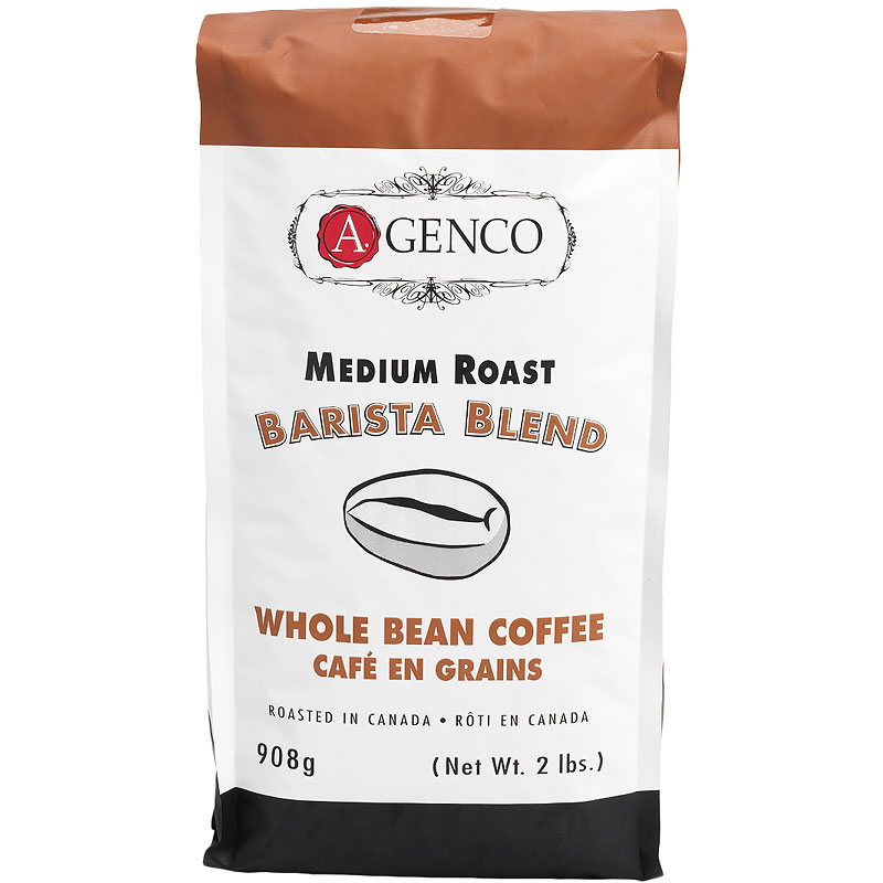 A. Genco Medium Roast Barista Blend - Whole Bean Coffee - 908g