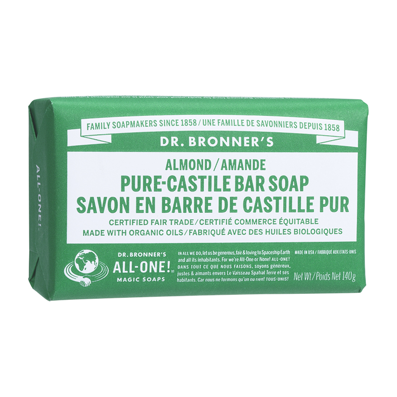 Dr. Bronner's Pure-Castile Bar Soap - Almond - 140g