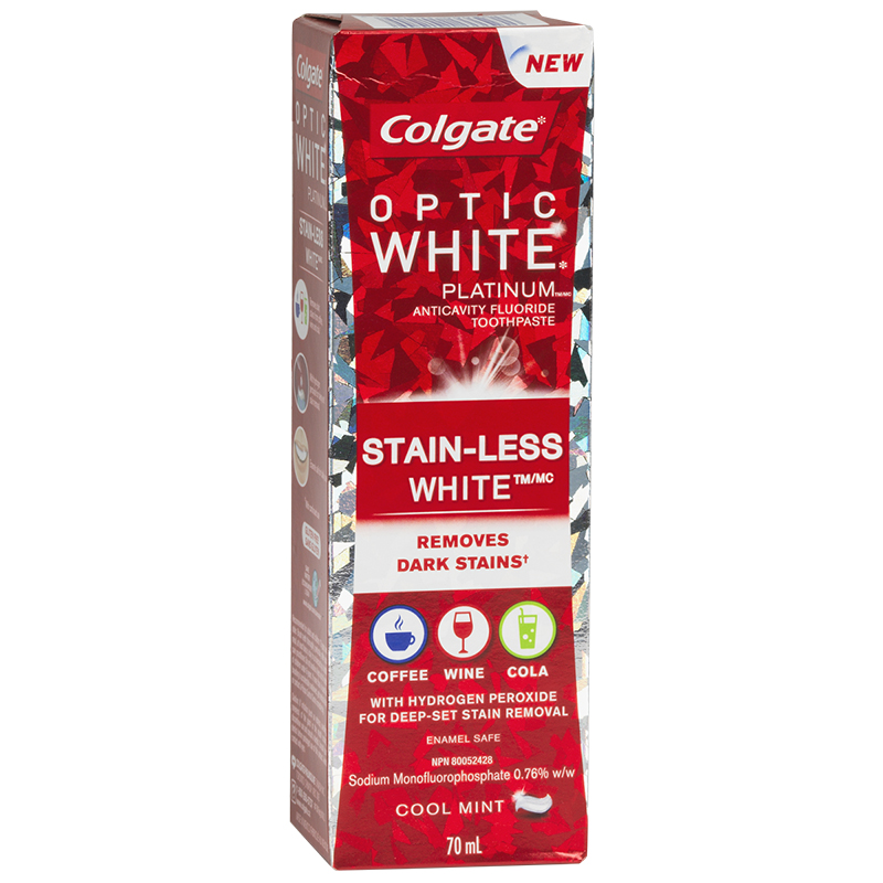 Colgate Optic White Platinum Stain-Less White Toothpaste - Cool Mint - 70ml
