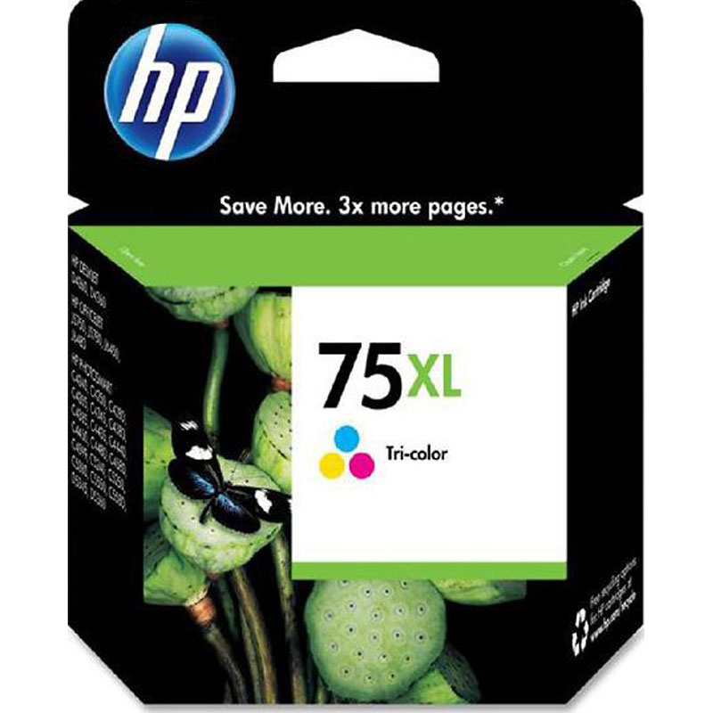 HP 75XL High Yield Original Ink Cartridge - Tri-Color - CB338WN#140
