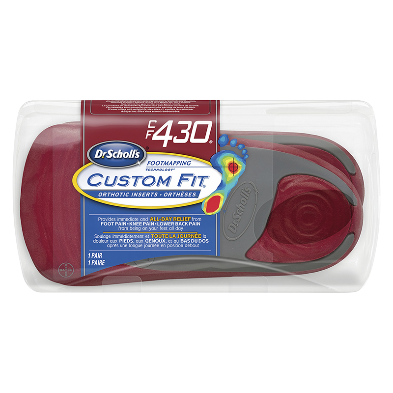 Dr. Scholl's Custom Fit Orthotic Insoles - CF430 - M10/W11.5