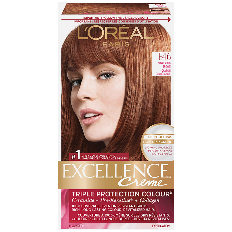 Loreal Excellence Creme E46 Copper Red Brown London Drugs