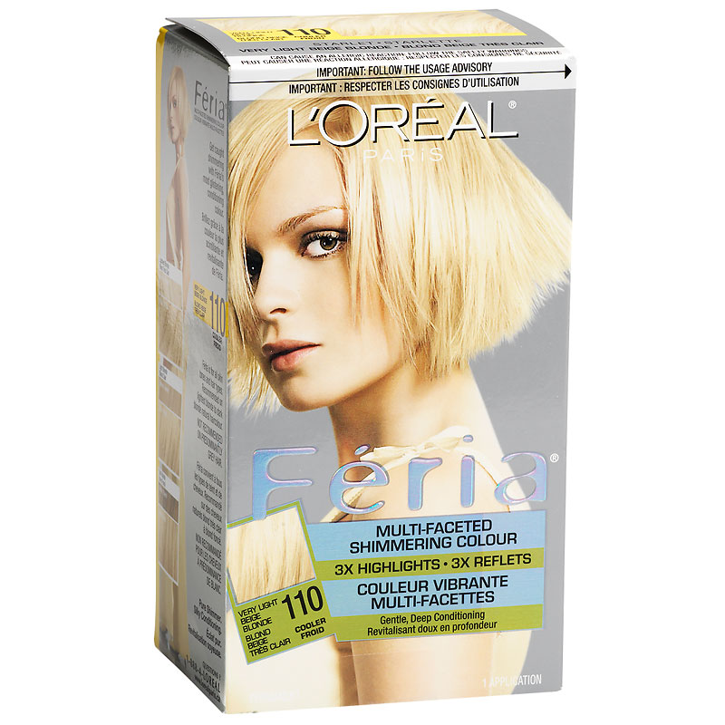 Loreal Feria Hair Colour 110 Very Light Beige Blonde London Drugs
