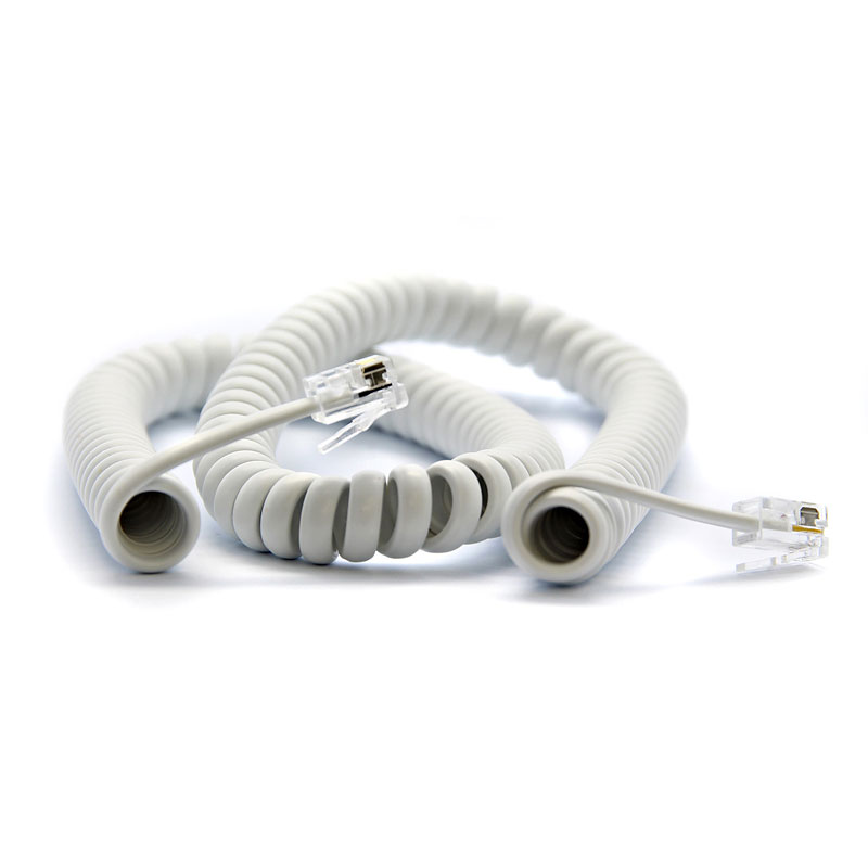 UltraLink 12' Phone Coil Cord - White - UHS68WH