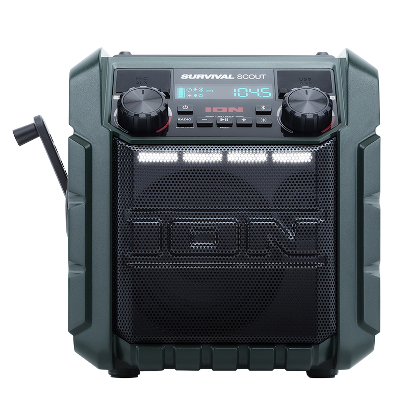 Ion Survival Scout Portable Bluetooth Speaker - Black - IPA95