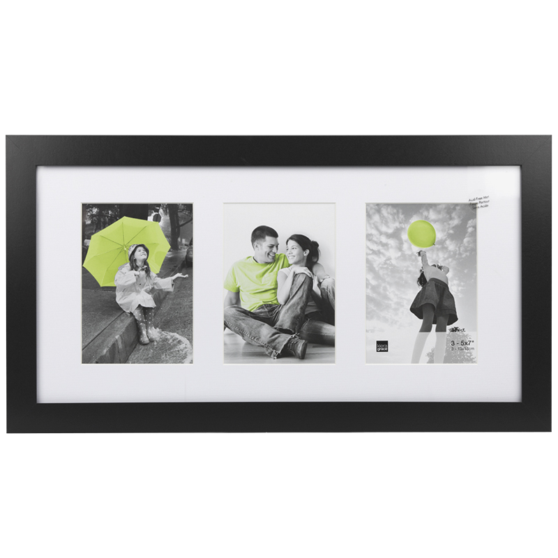 KG Langford Black Collage Frame - 3-5x7 - PH43263-6