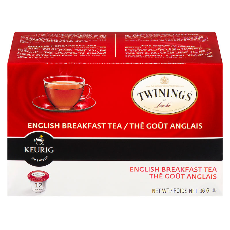 K-Cup Twinings Tea - English Breakfast - 12 Servings