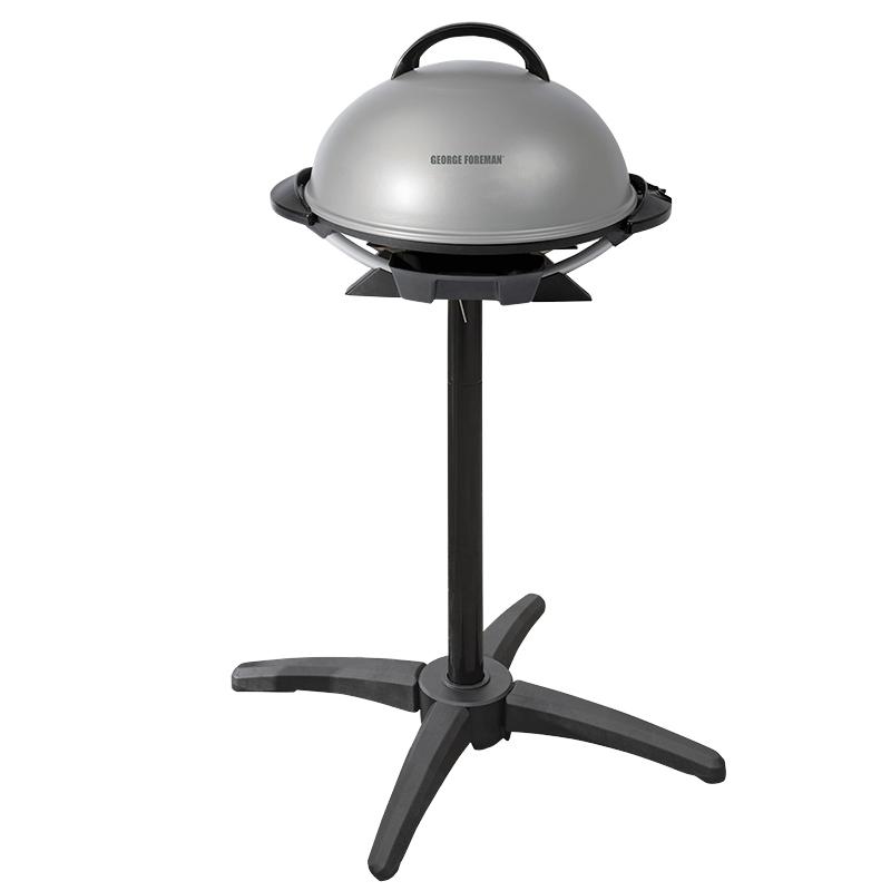 George Foreman Indoor Outdoor Electric Grill Grey Black Gfo240sc