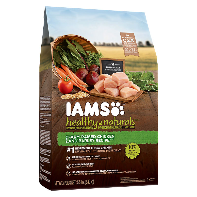IAMS Healthy Naturals Adult Dry Dog Food -  Chicken/Barley - 2.49kg