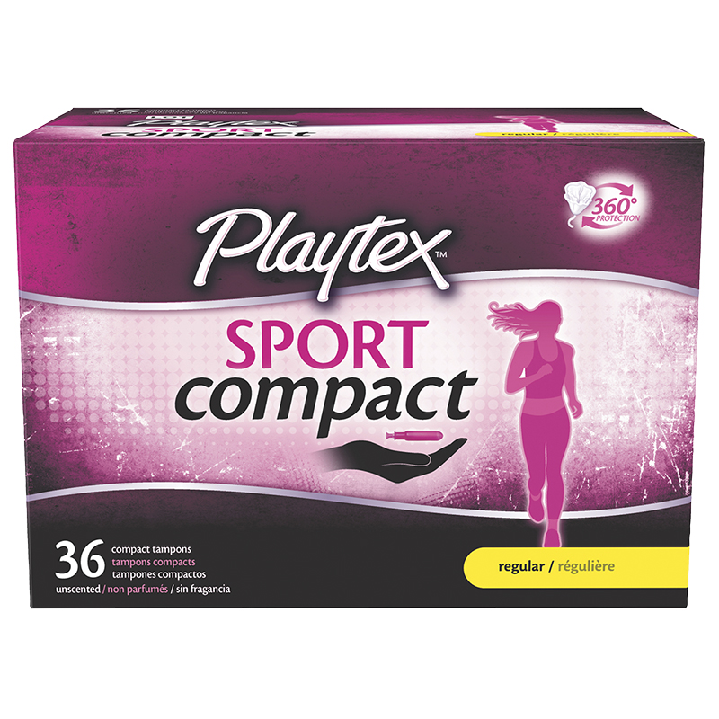 Playtex Sport Compact Tampons - Regular - 36's
