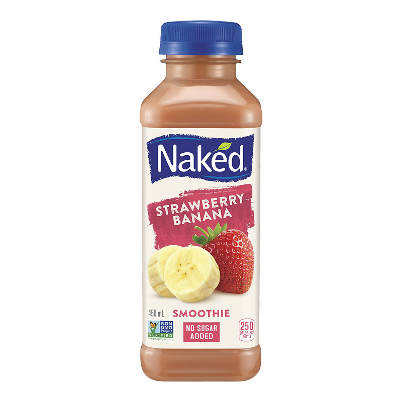 Naked Pure Fruit Juice - Strawberry Banana - 450ml
