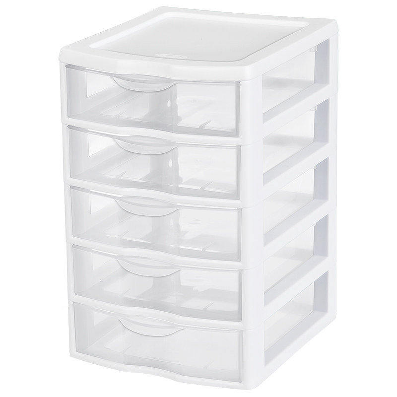 Sterilite Small 5 Drawer Unit - White