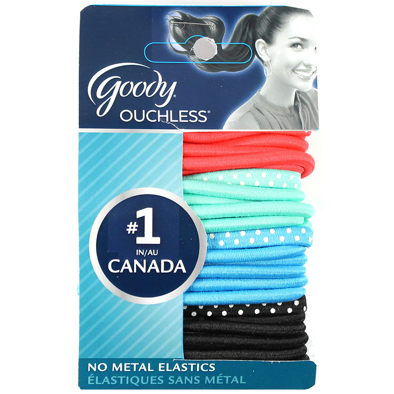 Goody Ouchless Elastics - Bright Dot - 24's