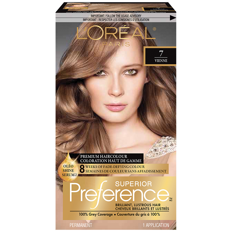 L Oreal Superior Preference Fade Defying Colour Shine System 7 Dark Blonde London Drugs