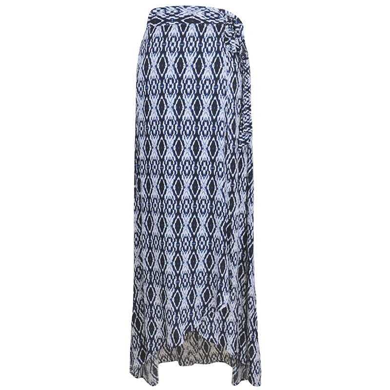 Lava Printed A-Line Skirt - Navy