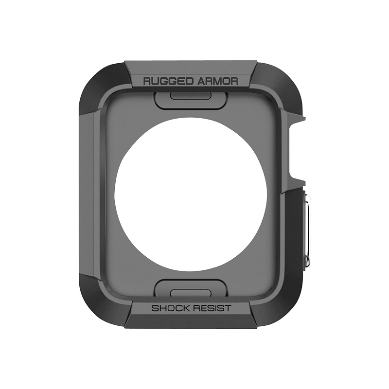 new products 293c7 9cab1 Spigen Rugged Armor for Apple Watch Series 3/2/1 - 38mm - Black - SGP11496
