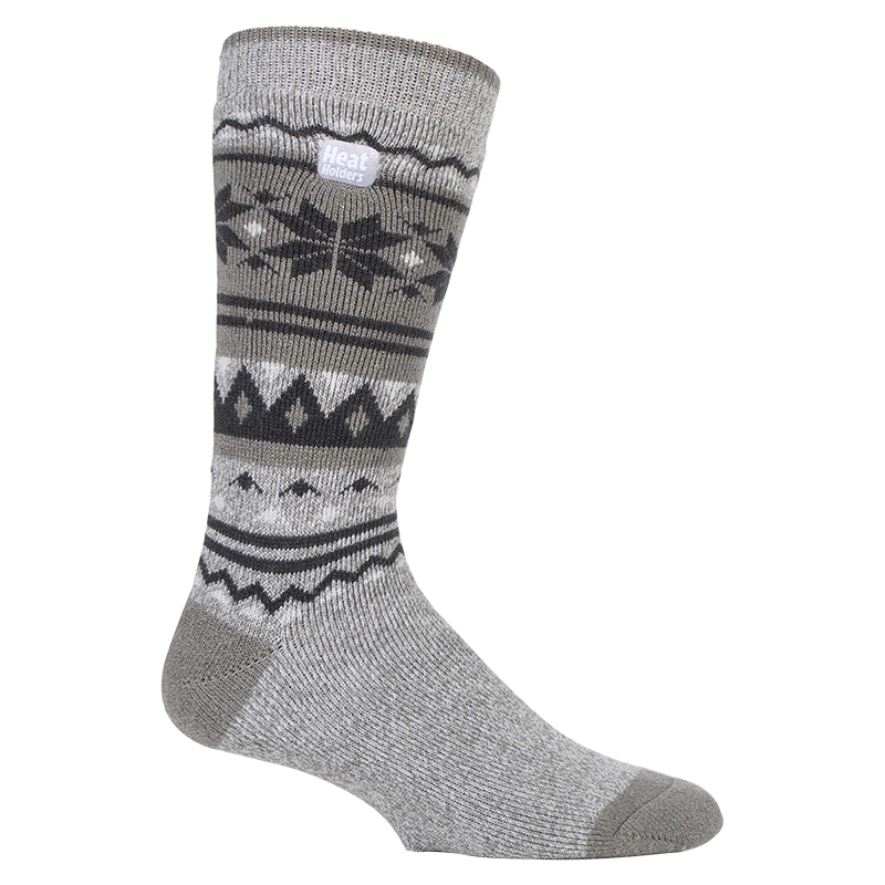 Heat Holders Men's Fairisle Lite Socks - Grey