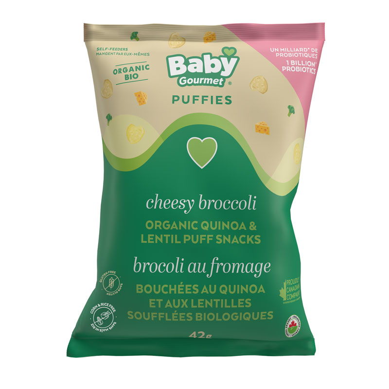 Baby Gourmet Puffies - Cheesy Broccoli - 42g