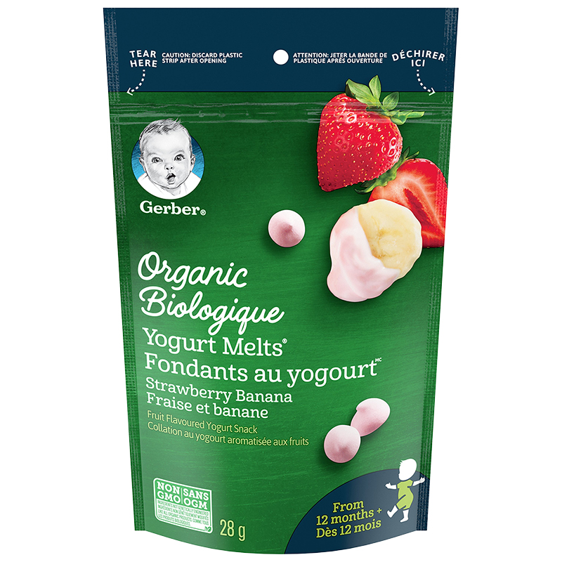 Gerber Organic Yogurt Melts - Strawberry Banana - 28g
