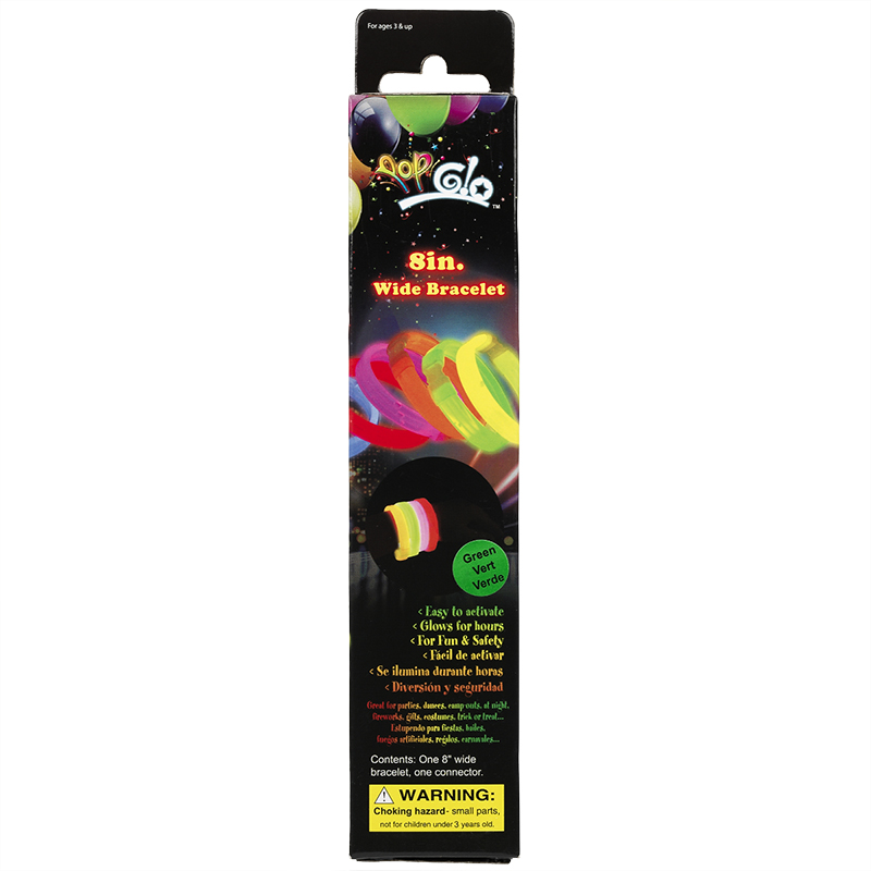 Pop Glo Bracelet - 8 inches - Assorted