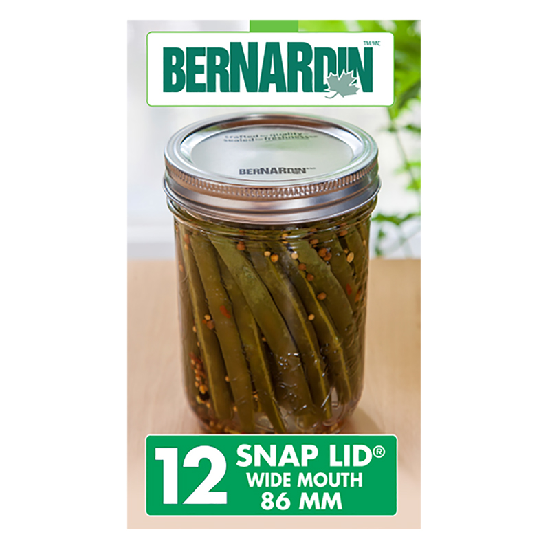 Bernardin Lids for Wide Mouth Jars - 86mm - 12 pack