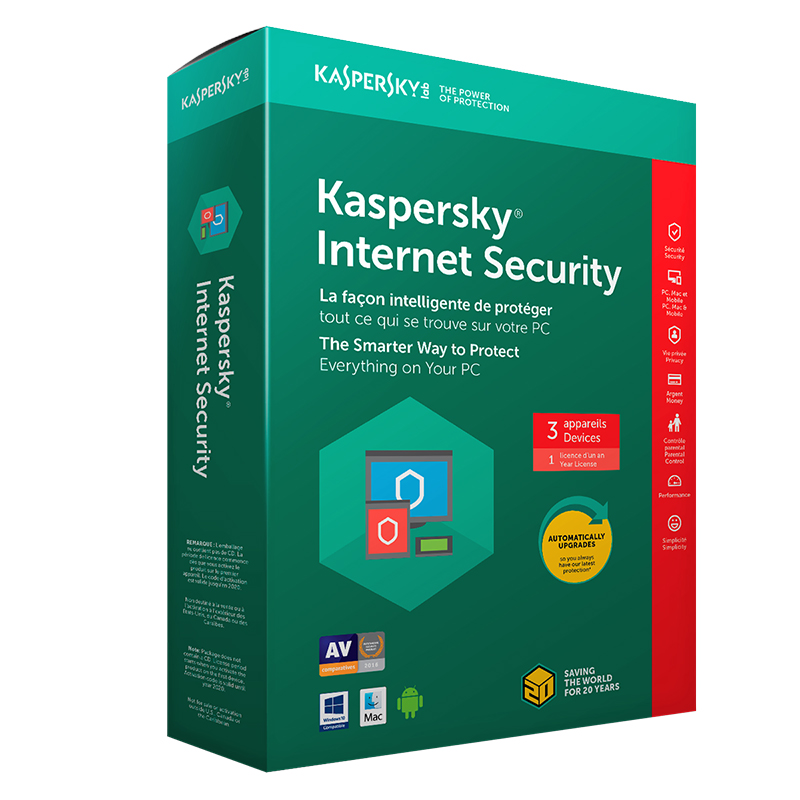 kaspersky internet security 2018 3 devices 1 year. Black Bedroom Furniture Sets. Home Design Ideas