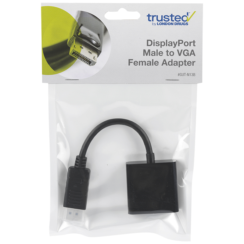 Certified Data DisplayPort Male to VGA Female Adapter - GUT-N13B