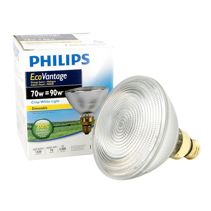 Philips 70W PAR38 Ecovantage Light Bulb - Flood - 1 pack