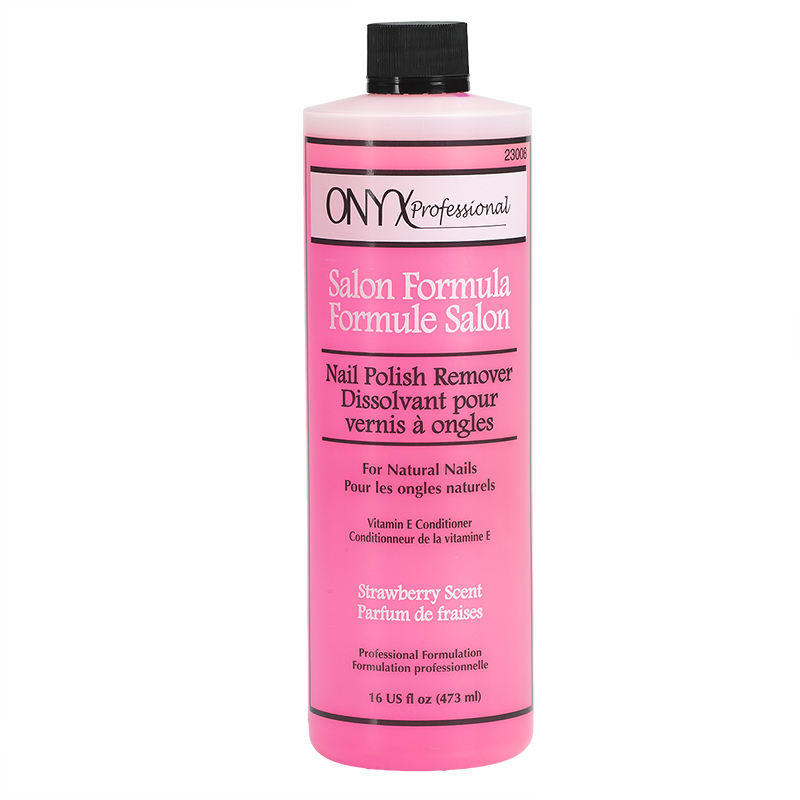 Onyx Professional Salon Formula Nail Polish Remover - Strawberry Scent - 473ml