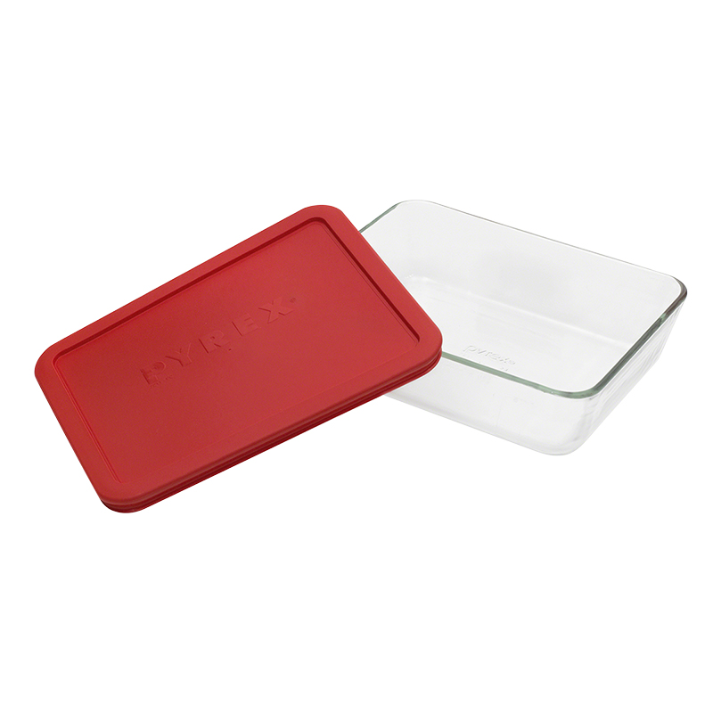 Pyrex Rectangle with Red Lid - 6 cup