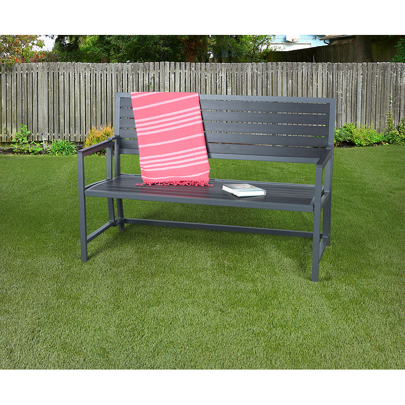 Aluminum/Polywood Outdoor Folding Bench - Aluminum/Polywood Outdoor Folding Bench London Drugs