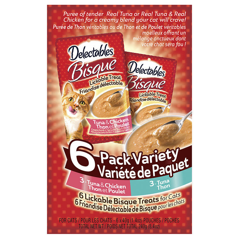 Hartz Delectable Variety Pack for Cats - 6 x 40g